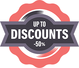 Discounts up to -50%!